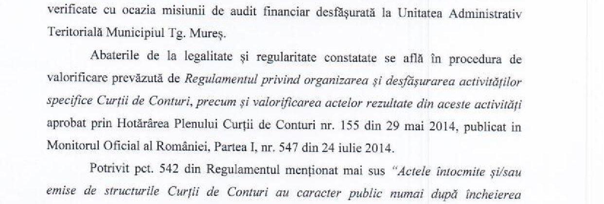 Ce spune Curtea de Conturi legat de finanțarea de către Primărie a cluburilor sportive